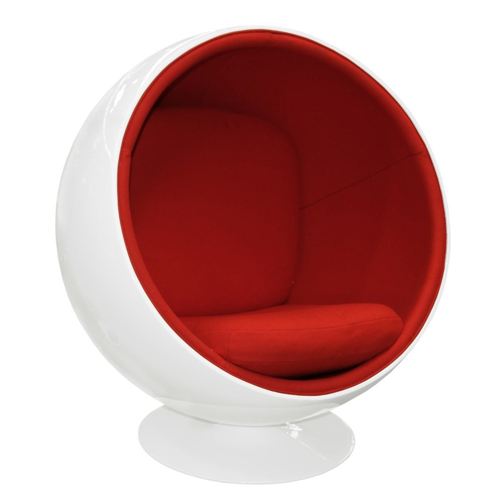 ball chair premium cashmere wool with fiberglass shell. Black Bedroom Furniture Sets. Home Design Ideas