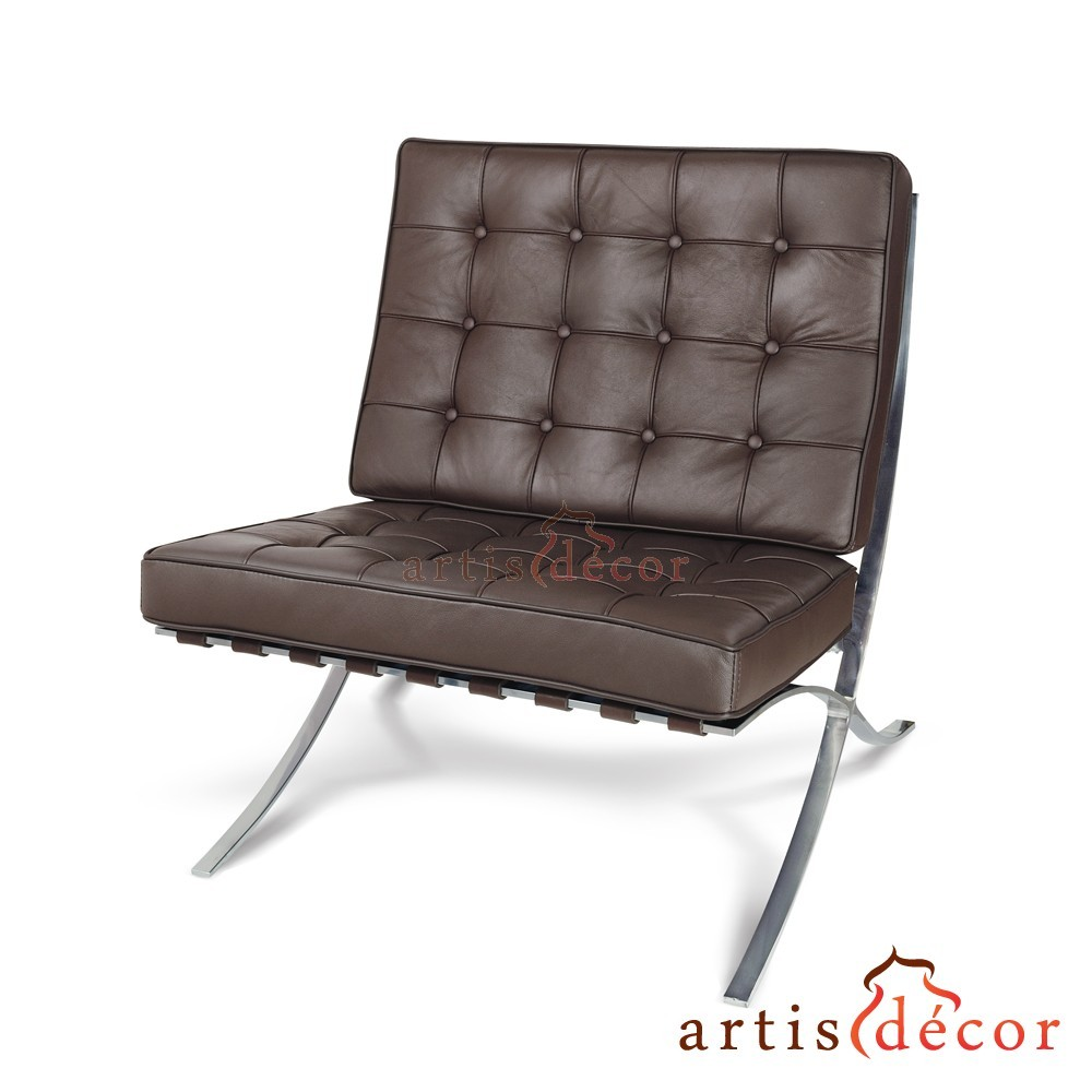 premium lounge chair u0026 ottoman brown aniline leather
