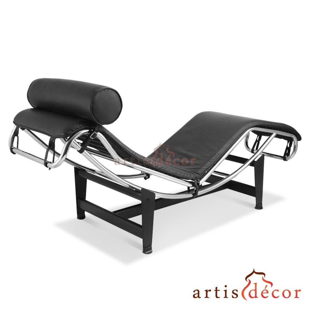 Le corbusier la chaise chair lc4 chaise lounge black for Chaise lounge black