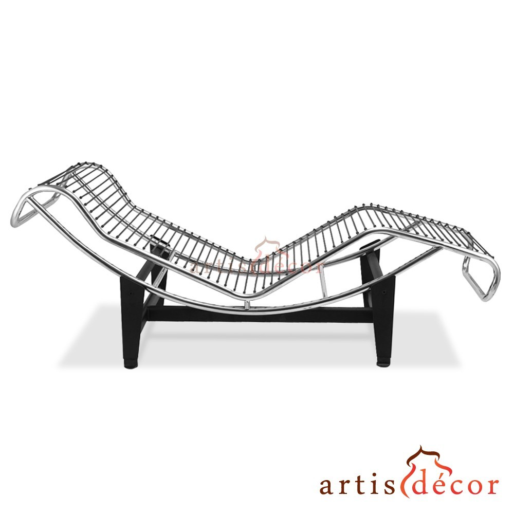 le corbusier la chaise chair lc4 chaise lounge white leather artis d cor. Black Bedroom Furniture Sets. Home Design Ideas