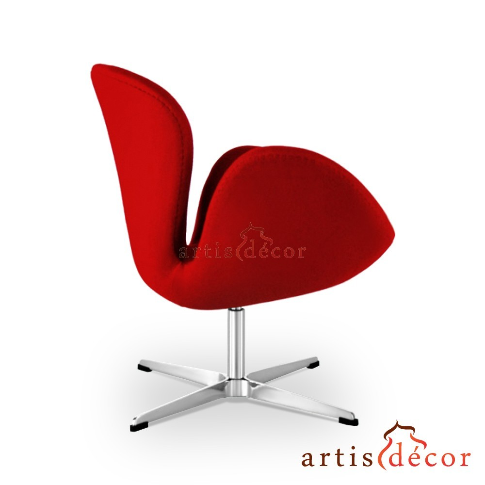 arne jacobson style swan chair in wool artis d cor. Black Bedroom Furniture Sets. Home Design Ideas