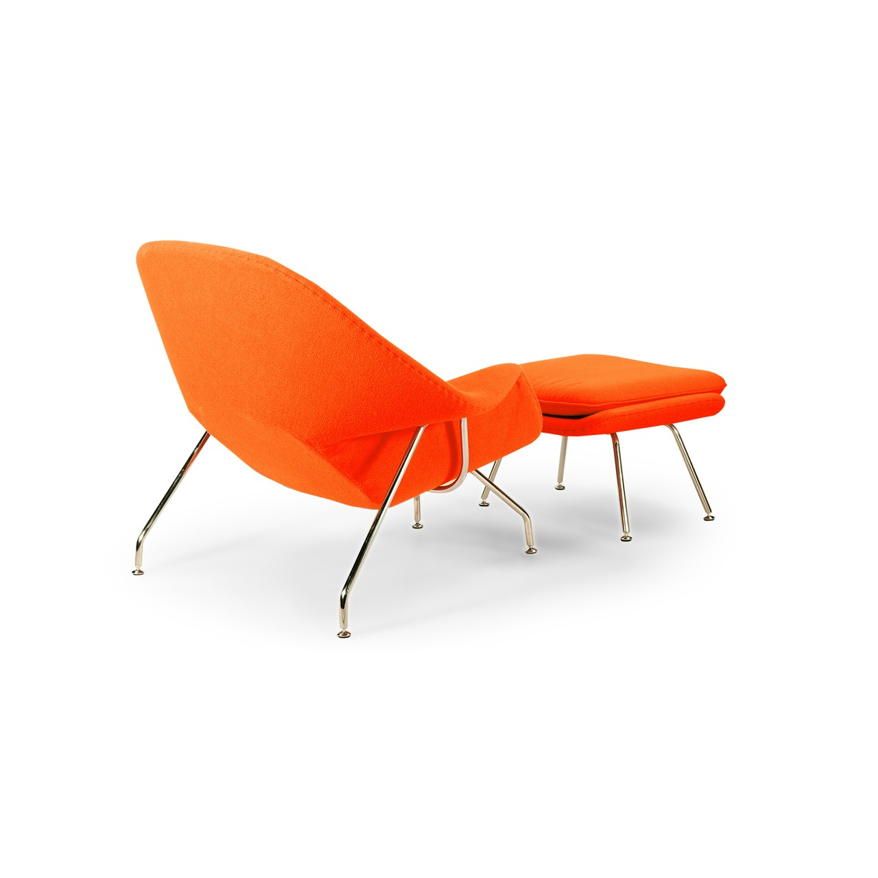 Womb Chair And Ottoman   Premium Cashmere Wool Orange Wool