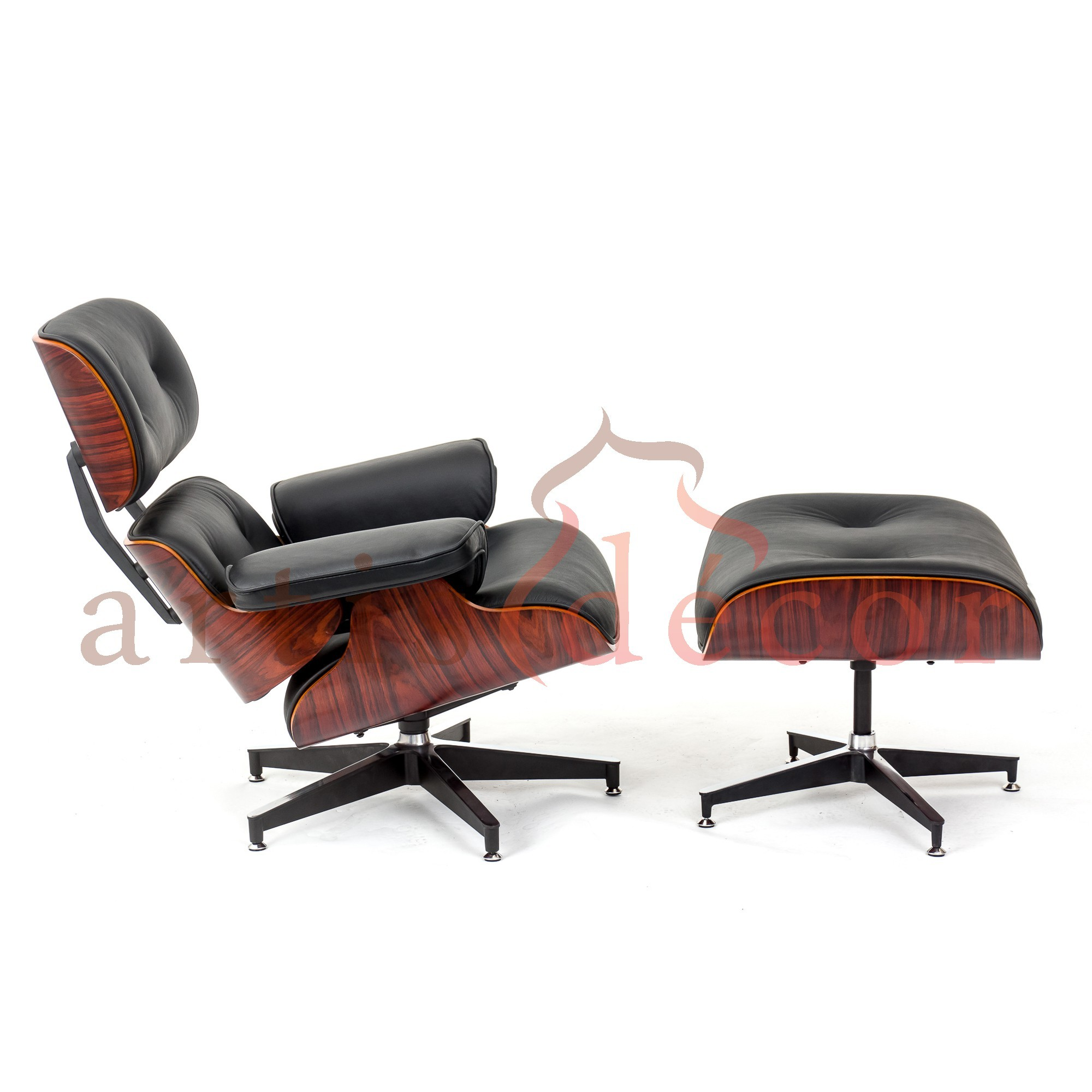 Plywood Lounge Chair   Ottoman   Aniline Leather  Rosewood Lounge chair and ottoman Black Leather Replica   Artis D cor. Eames Lounge Chair And Ottoman Walnut Frame Standard Leather. Home Design Ideas