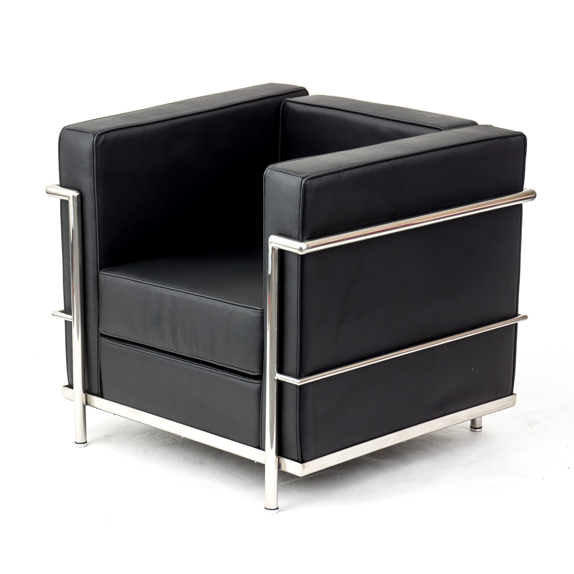 Le corbusier lc2 chair sofa black leather artis d cor for Le corbusier lc2