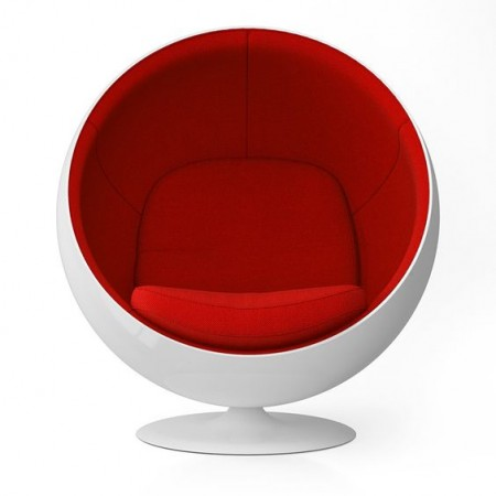 Ball Chair - Premium Cashmere Wool with Fiberglass Shell