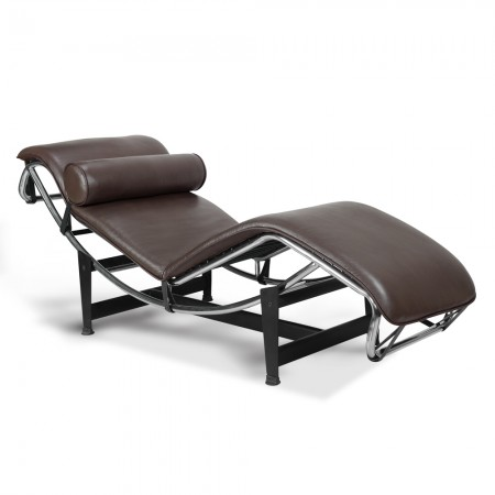 LC4 Chaise Lounge - Premium Brown Top Grain Leather
