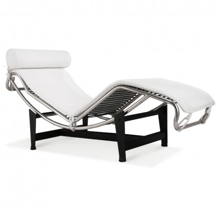 LC4 Chaise Lounge - Premium White Top Grain Leather