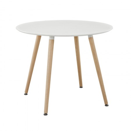 Track Round Dining Table White