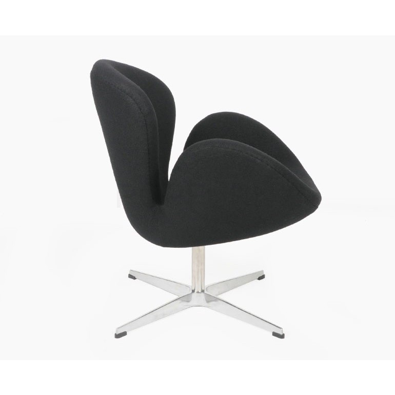 Arne Jacobson Style Swan Chair In Wool Artis D 233 Cor