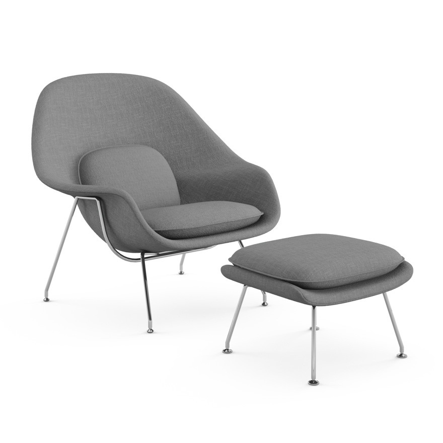 Womb Chair And Ottoman Premium Cashmere Wool Artis D 233 Cor