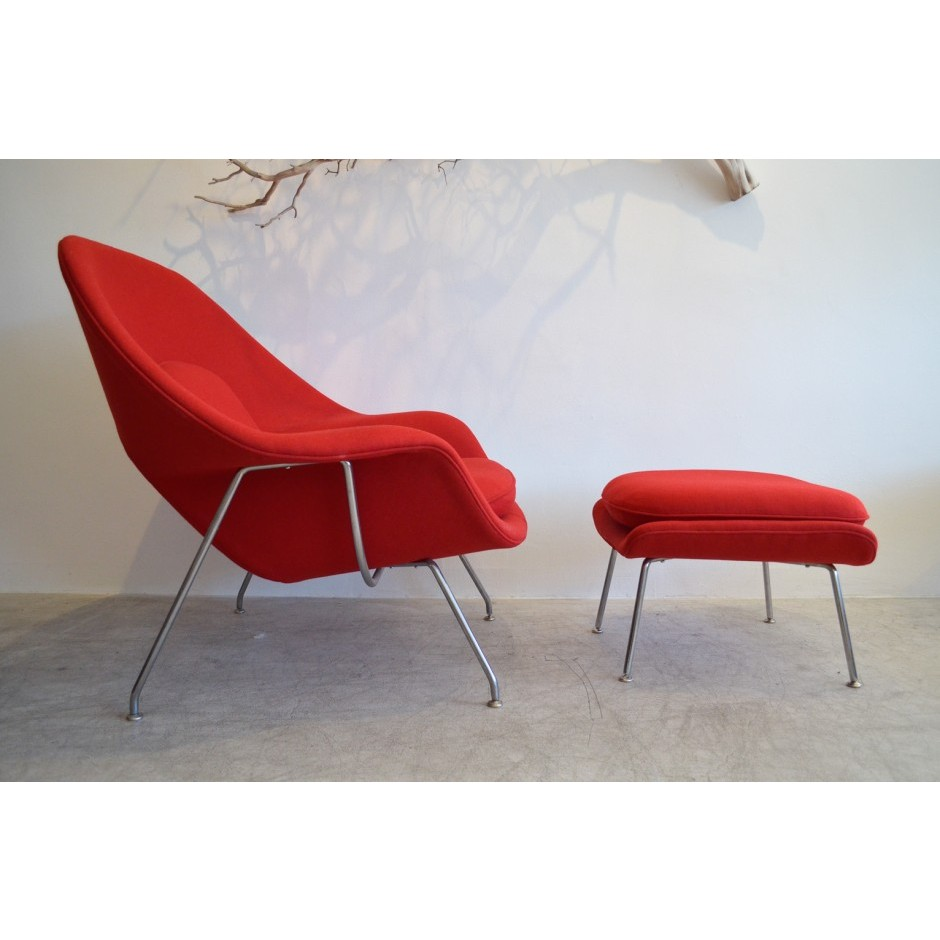 womb chair and ottoman premium cashmere woolred wool - Womb Chair