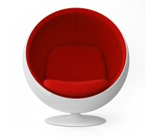 Ball Chair - Premium Cashmere Wool with Fiberglass Shell