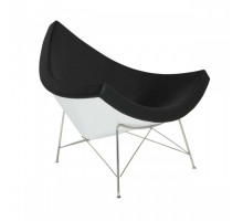 Coconut Lounge Chair - Premium Cashmere Wool with Fiberglass Shell