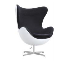 Egg Chair - Premium Cashmere Wool with White Fiberglass Shell