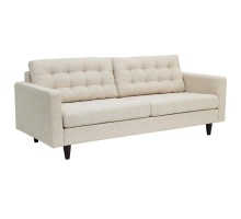 Empress Upholstered Fabric Sofa Beig