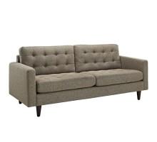 Empress Upholstered Fabric Sofa Oatmeal