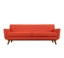 Engage Upholstered Fabric Sofa Atomic Red