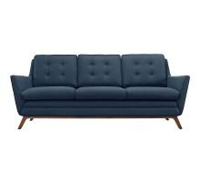Beguile Upholstered Fabric Sofa Azure