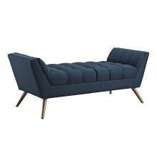 Response Medium Upholstered Fabric Bench Azure