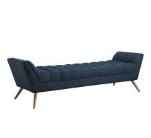 Response Upholstered Fabric Bench Azure