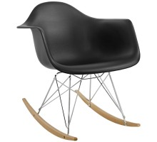 Rocker Plastic Lounge Chair Black