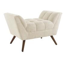 Response Upholstered Fabric Ottoman Beige