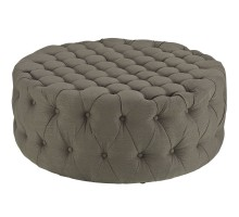 Amour Upholstered Fabric Ottoman Granite