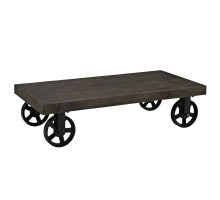 Garrison Wood Top Coffee Table Black