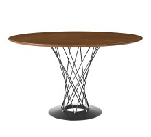Cyclone Round Wood Top Dining Table Walnut