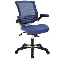 Edge Vinyl Office Chair Blue