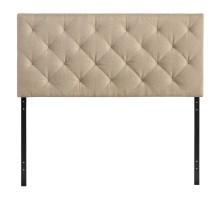 Theodore Queen Upholstered Fabric Headboard Beige