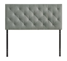 Theodore Queen Upholstered Fabric Headboard Gray