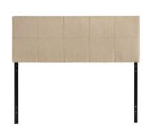 Oliver Queen Upholstered Fabric Headboard Beige