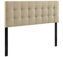Lily King Upholstered Fabric Headboard Beige