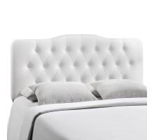 Annabel Full Upholstered Vinyl Headboard White