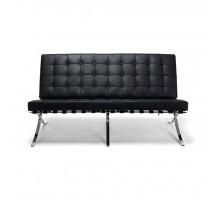 Barcelona Style Loveseat - Premium Top Grain Leather