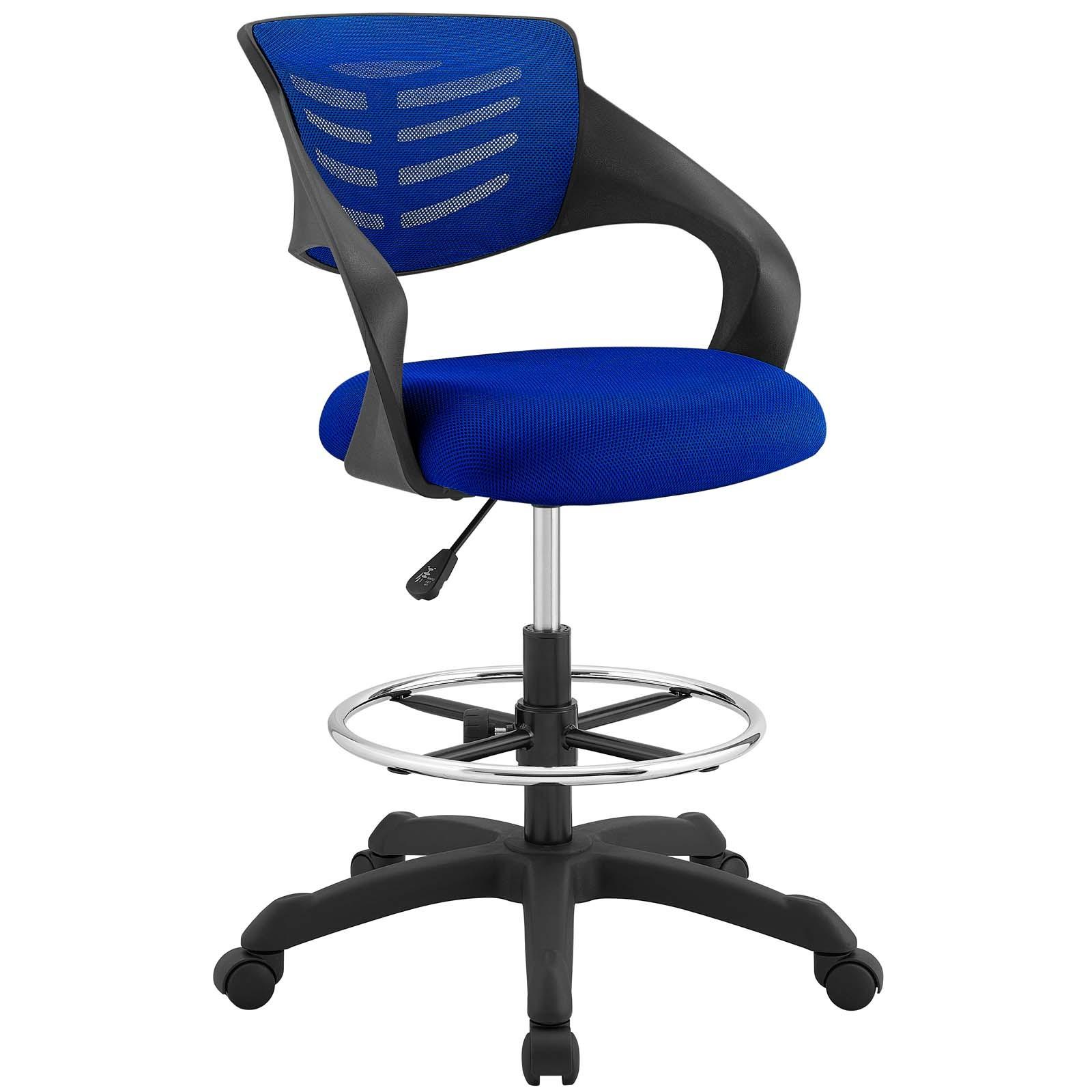 Thrive Mesh Drafting Chair Blue