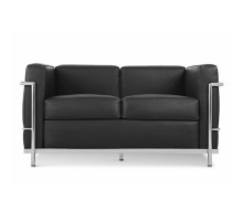 LC2 Style Loveseat - Premium Italian Leather