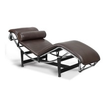 LC4 Chaise Lounge - Premium Brown Aniline Leather
