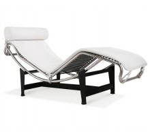 LC4 Chaise Lounge - Premium White Aniline Leather