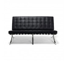 Barcelona Style Loveseat - Premium Top Grain Leather