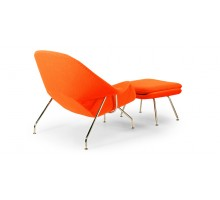 Womb Chair and Ottoman - Premium Cashmere Wool-Orange Wool