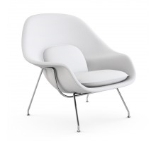 Womb Chair and Ottoman - Premium Cashmere Wool-White Wool