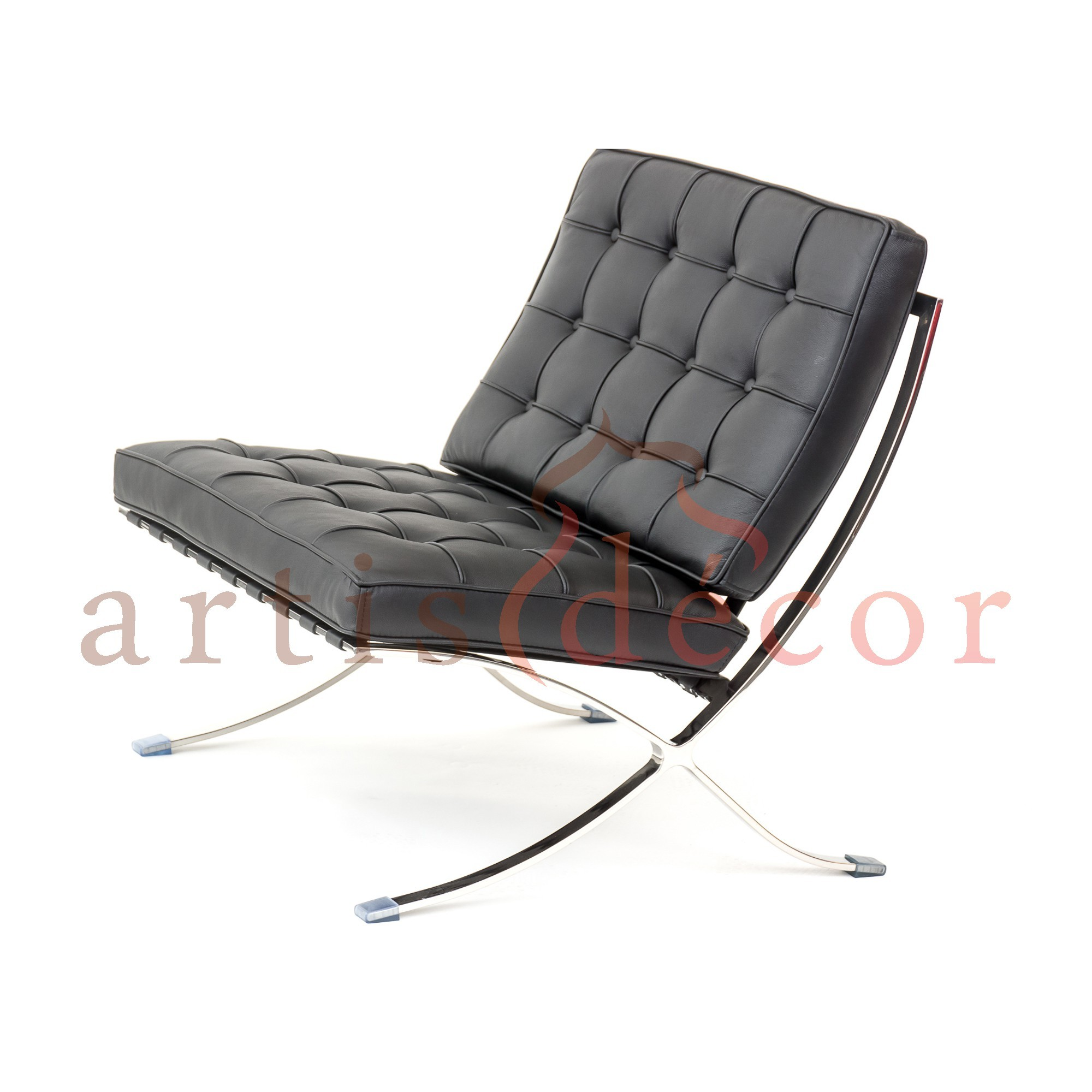 Premium Lounge Chair and Ottoman-Black-Chair Only