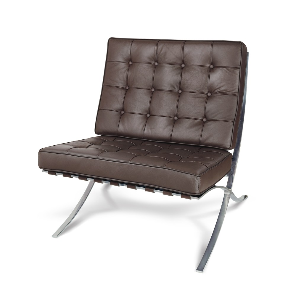 Premium Lounge Chair - Premium Brown Top Grain Leather