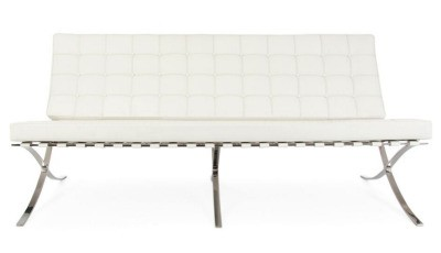 Premium Sofa - White Top Grain Leather