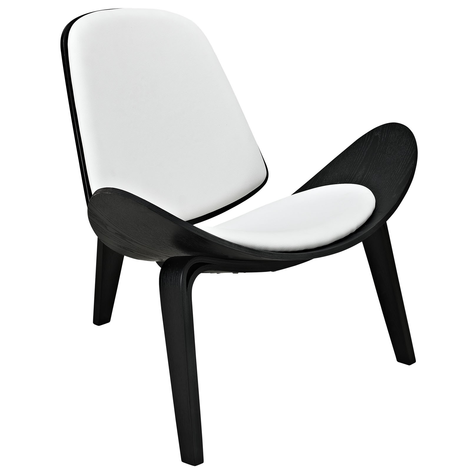 Arch Vinyl Lounge Chair-Black White