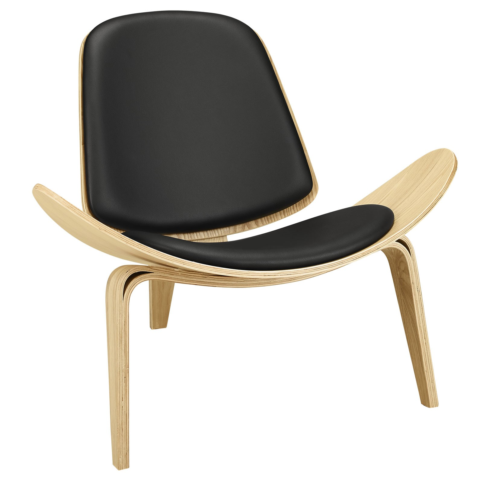 Arch Vinyl Lounge Chair-Oak Black
