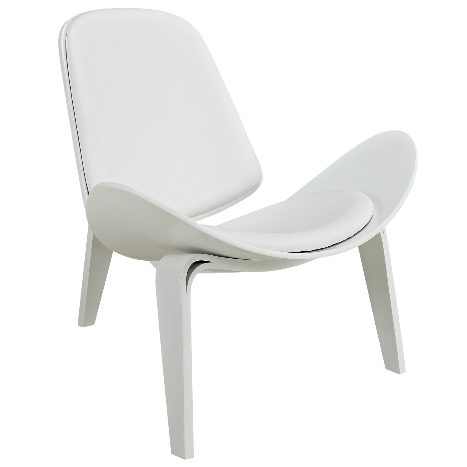 Arch Vinyl Lounge Chair-White White