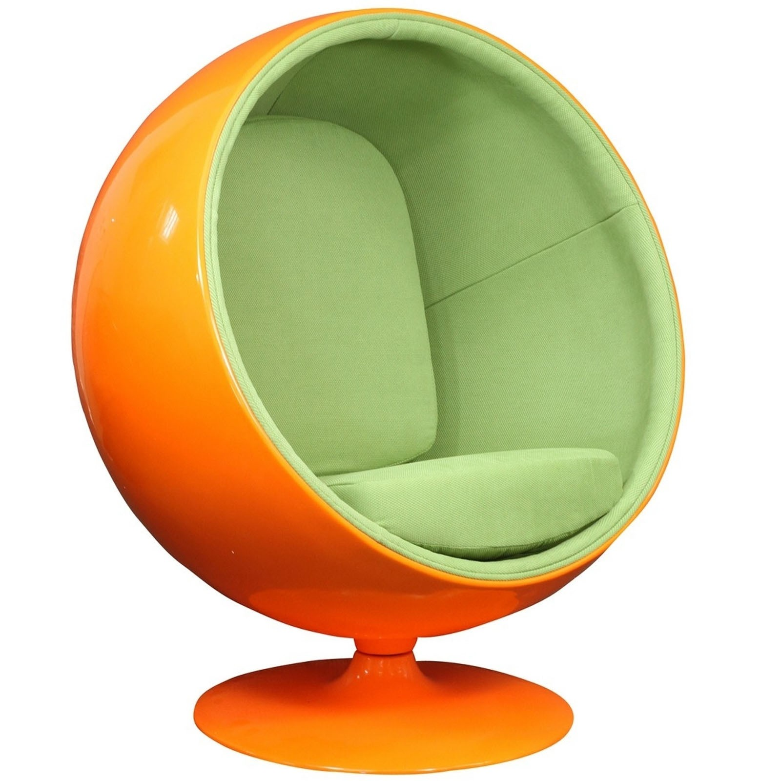 Kaddur Lounge Chair - Orange Green